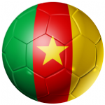Cameroon Football Flag 25mm Flat Back
